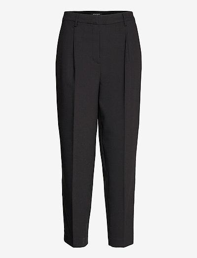CindySus Dagny pants - sirge säärega püksid - black