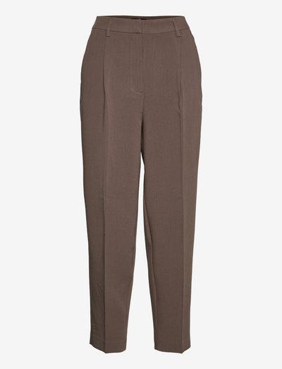 CindySus Dagny pants - straight leg trousers - major brown