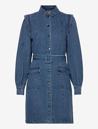 Broomrap Zarah dress - skjortekjoler - denim