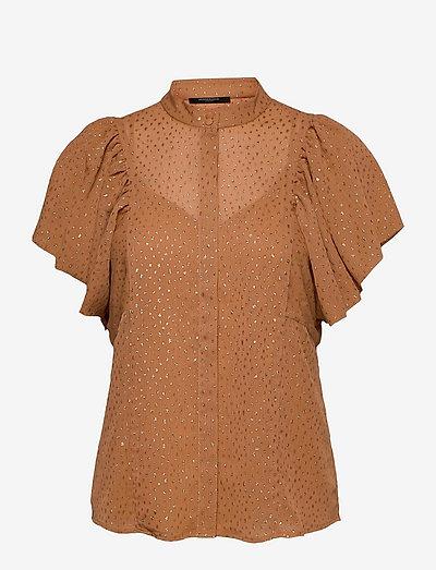 Marigold Ocatavia shirt - kortærmede bluser - gold sand