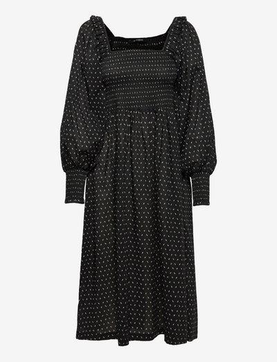 Aster Smoc dress - sommerkjoler - black  print