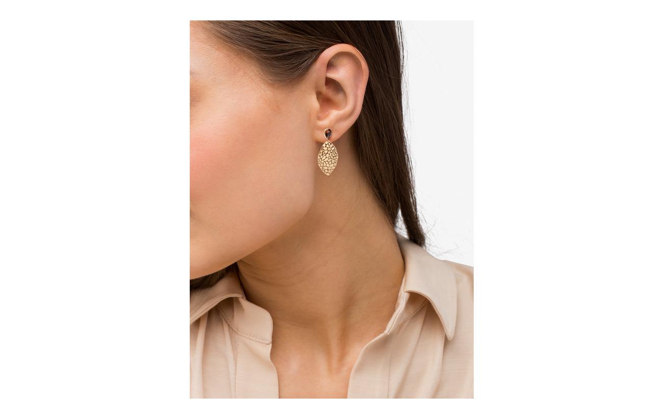 Bud to rosa Crystal Leaf Earring Smycken