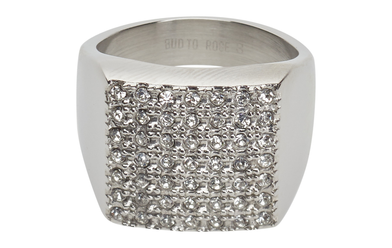 Bud to rose Linn Ring Crystal - CLEAR/STEEL