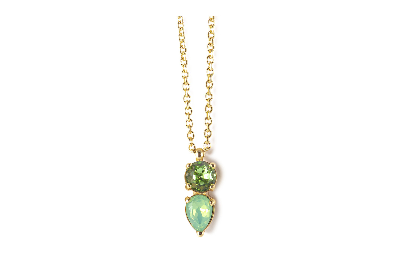 Bud to rose Mini River Short Necklace - GREEN/GOLD