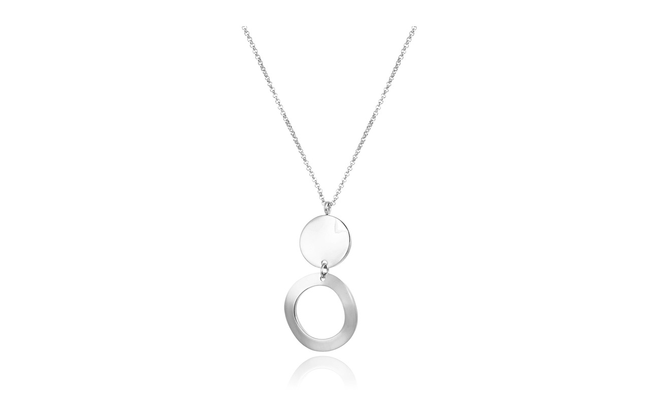 Bud to rose Moon Short Necklace - SILVER