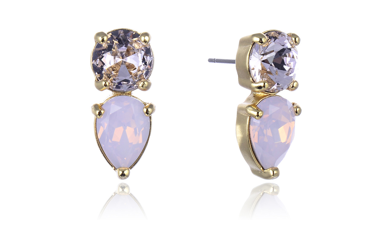 Bud to rose Mini River Earring - PINK/GOLD