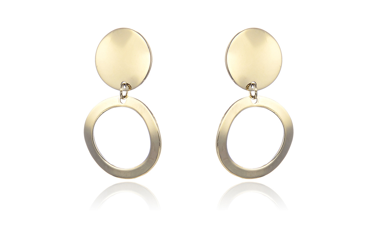 Bud to rose Moon Earring - GOLD