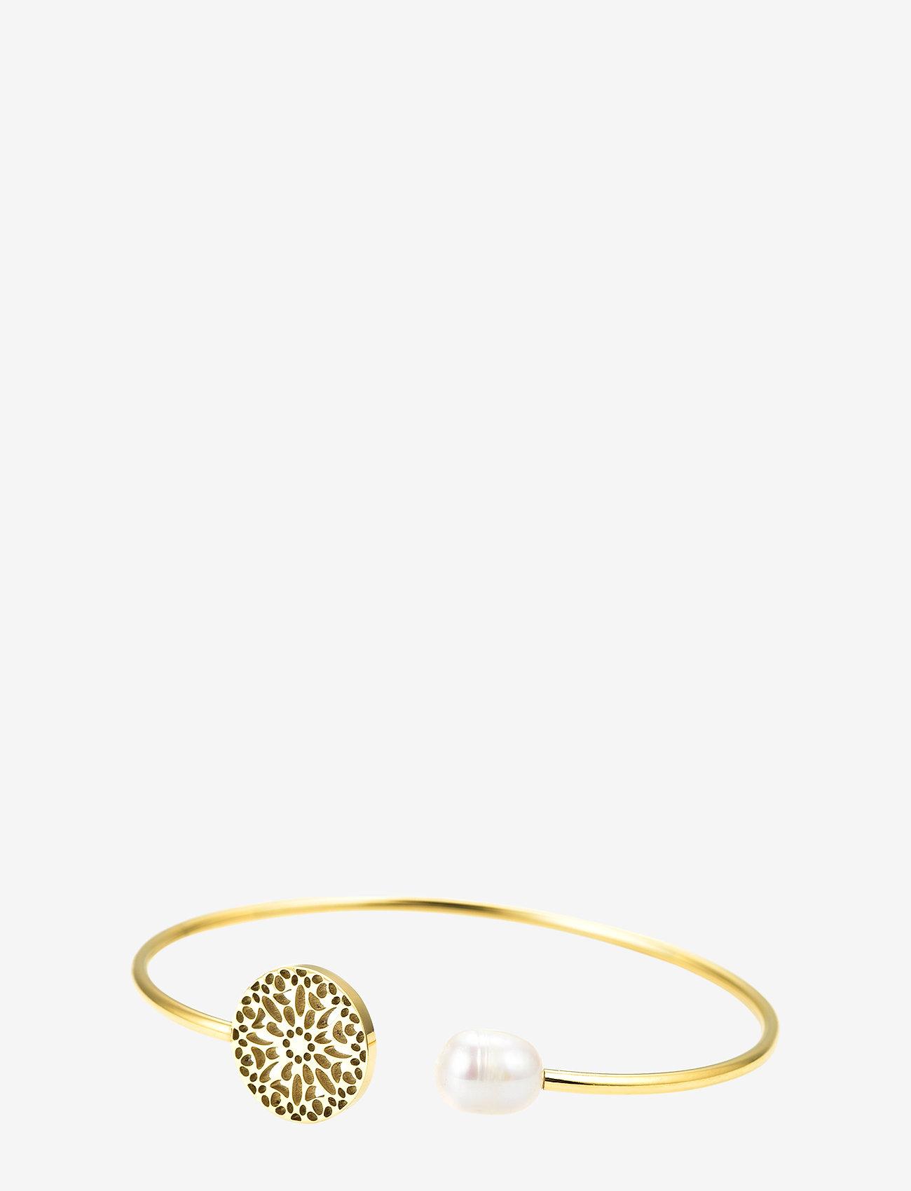 Bud to rose - Sence Pearl Bangle Gold - bangles - gold - 0