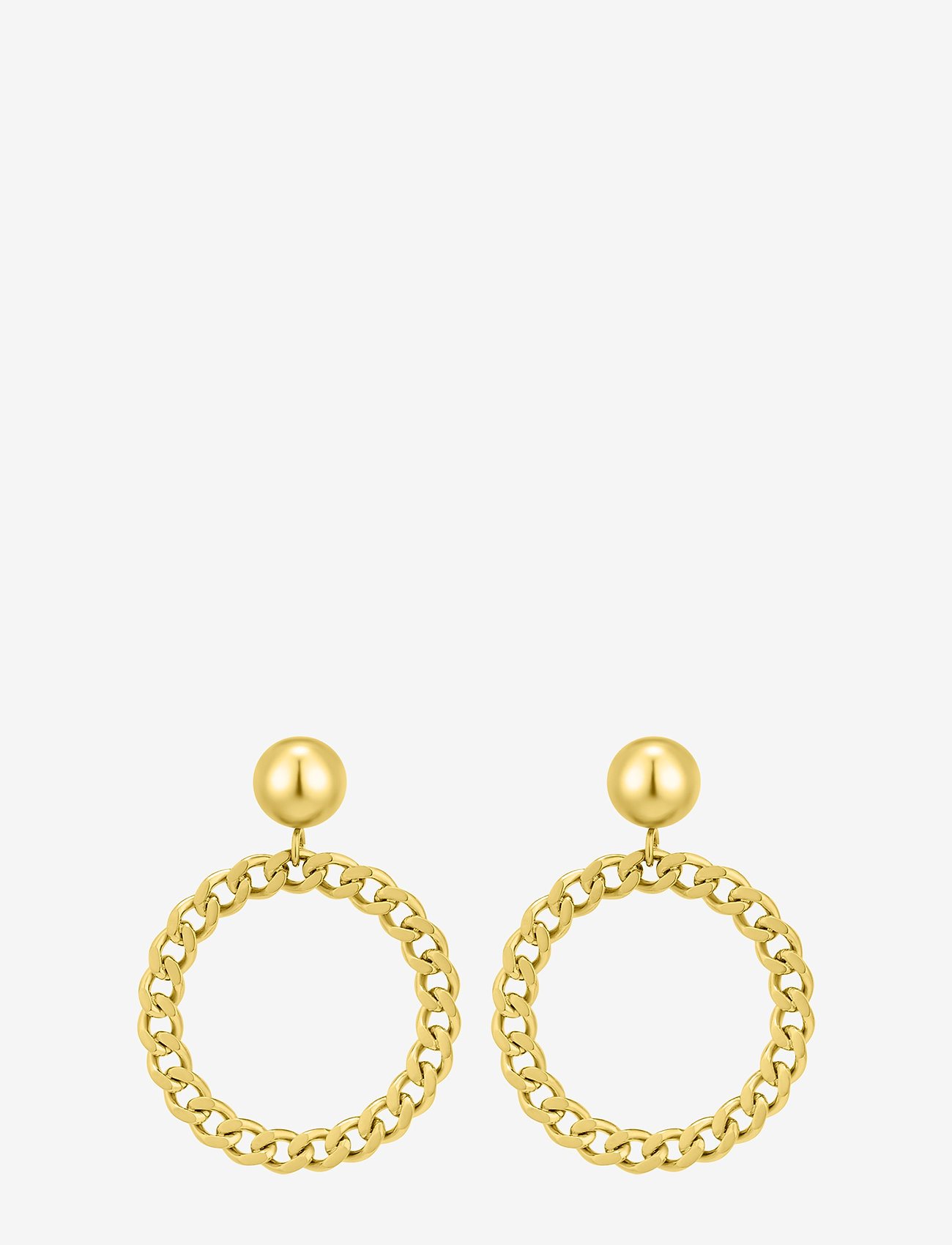 Bud to rose - Devious Chain Earring Steel - pendant - gold - 1
