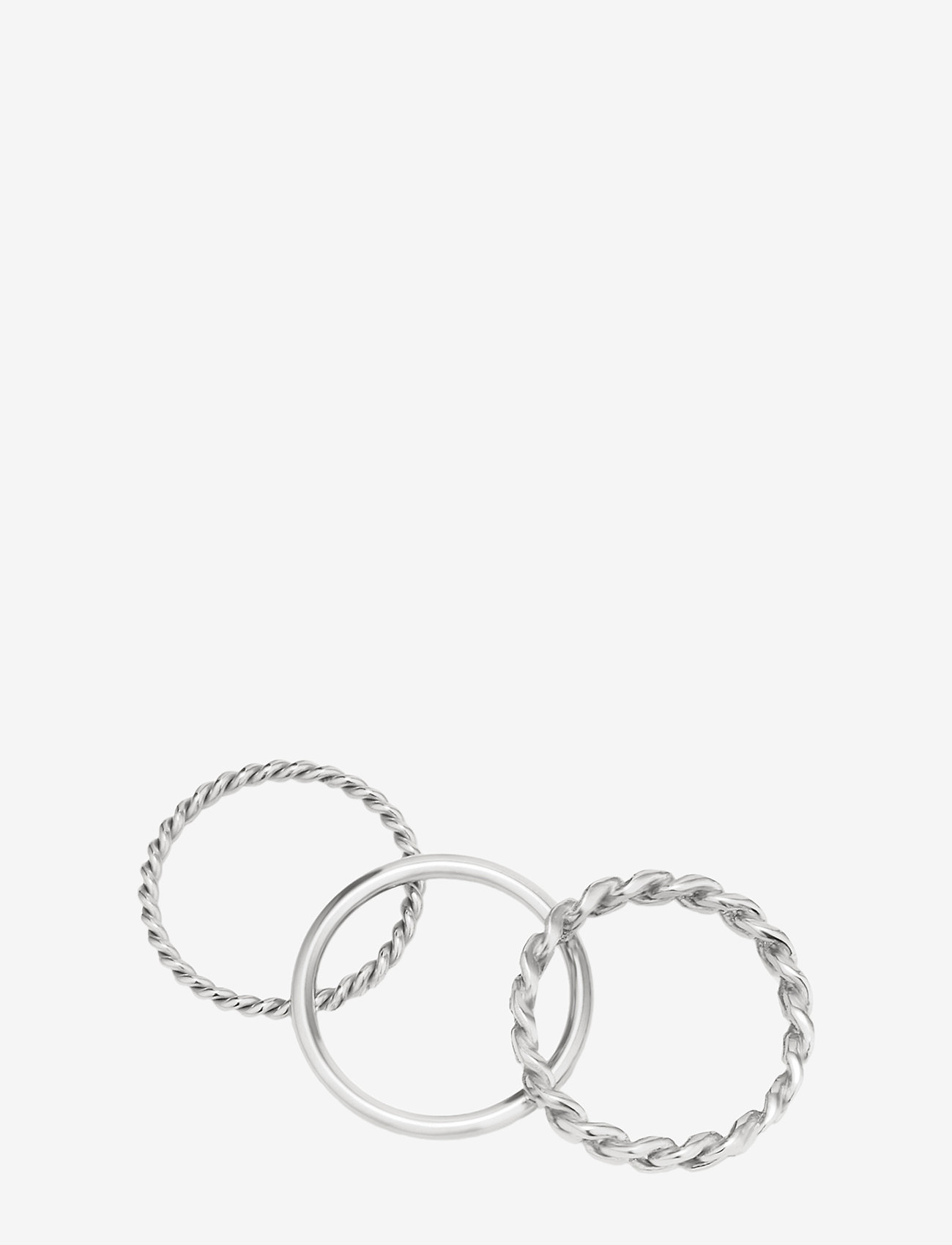 Bud to rose - Chain Trio Ring Steel - sormukset - silver - 1