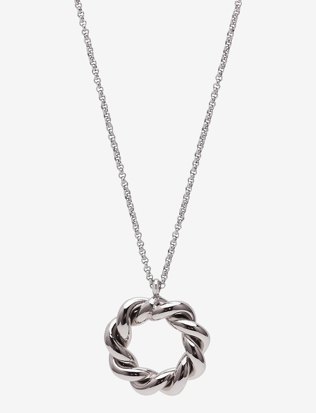 Bud to rose - Twist Short Necklace - kettingen met hanger - silver - 0