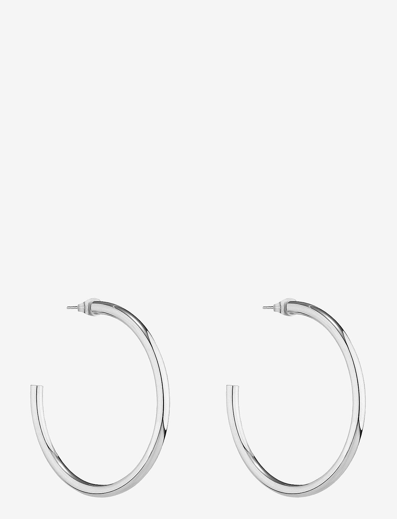 Bud to rose - Chloe Hoop Earring Steel - creoler - silver - 0
