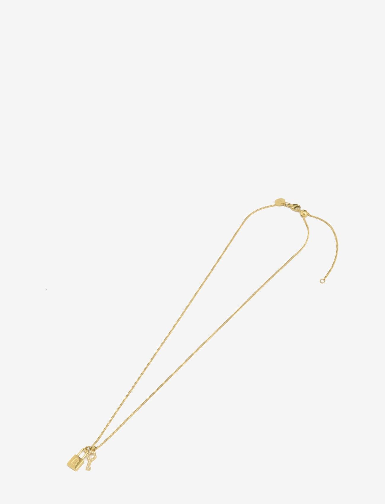 Bud to rose - Love Lock Necklace Steel - kettingen met hanger - gold - 0