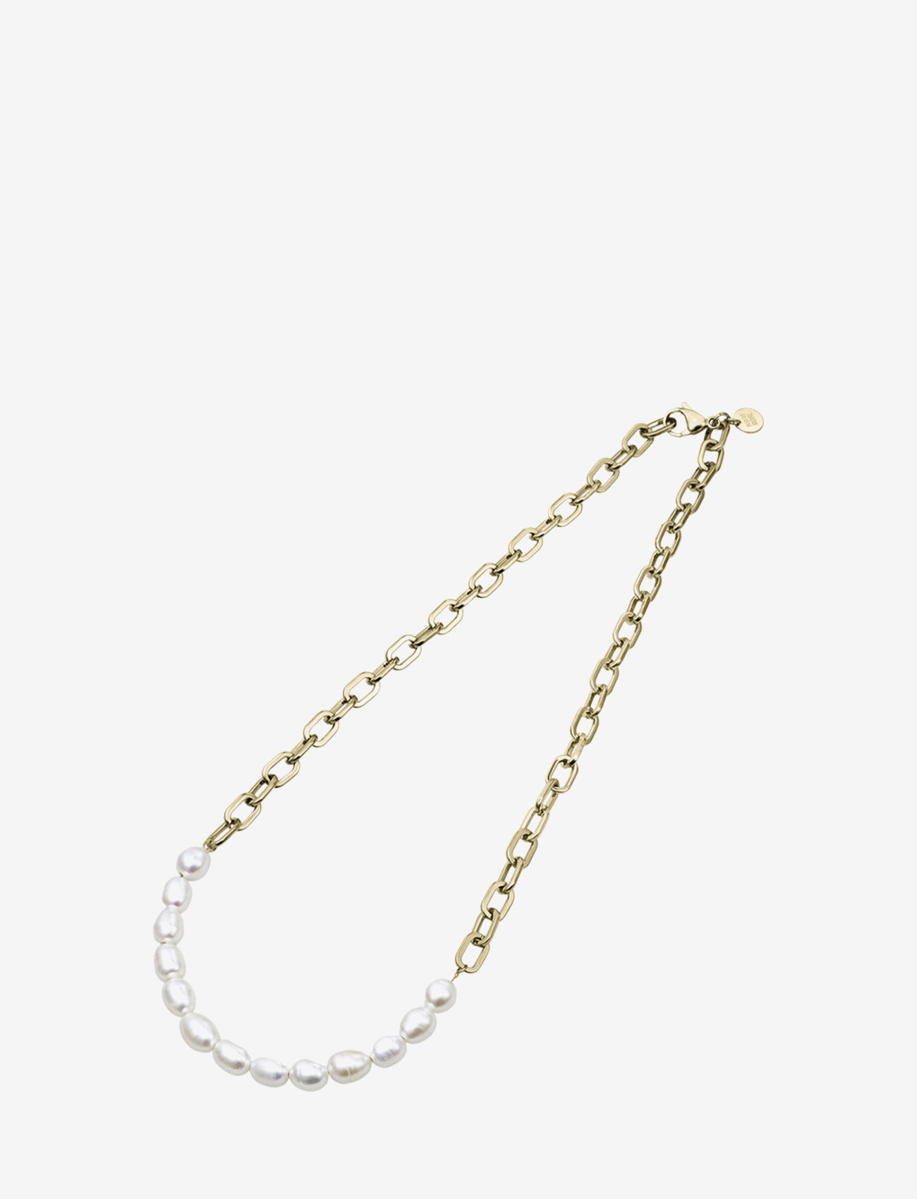 Bud to rose - Pearl Link Necklace Steel - kettingen  - gold - 1