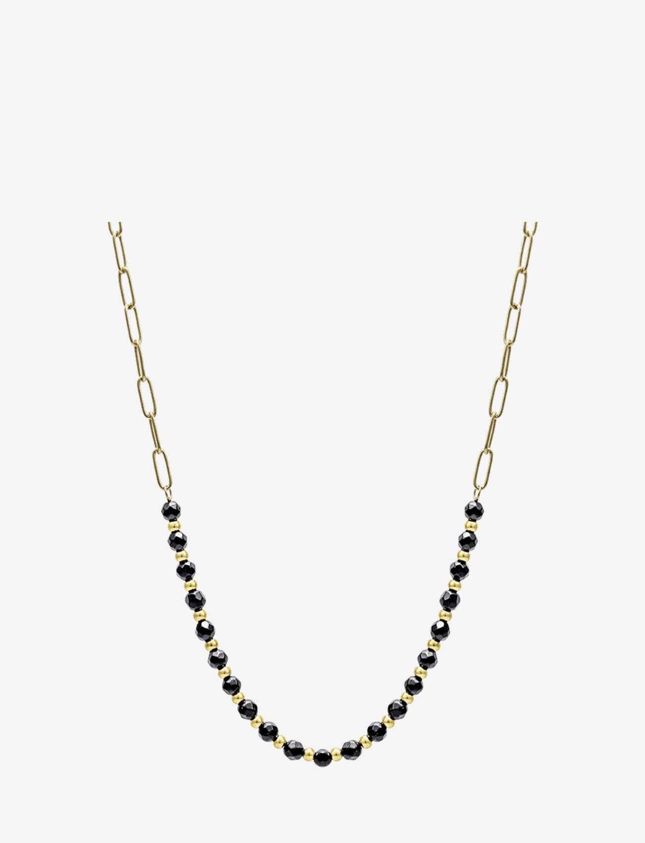 Bud to rose - Spirit Short Necklace Beige/Gold - kettingen met hanger - black gold - 0