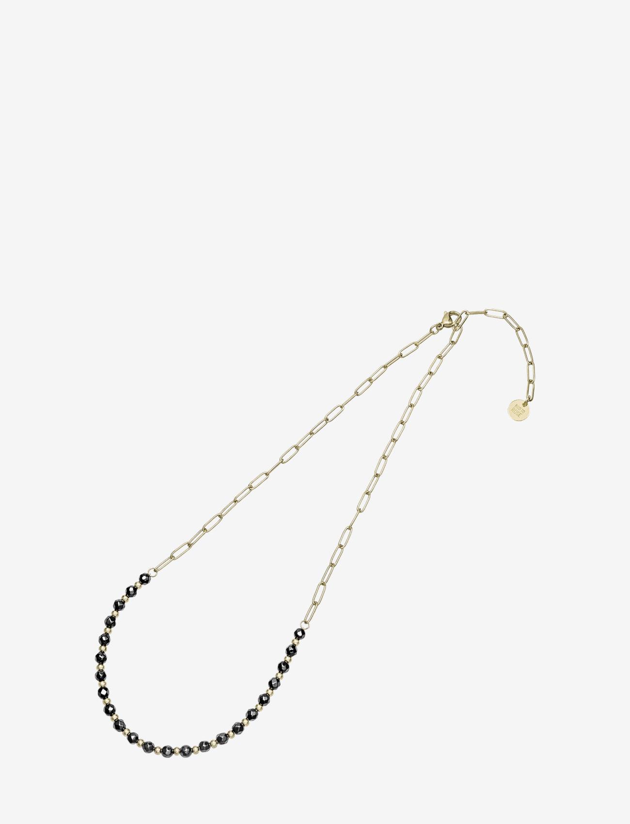 Bud to rose - Spirit Short Necklace Beige/Gold - kettingen met hanger - black gold - 1
