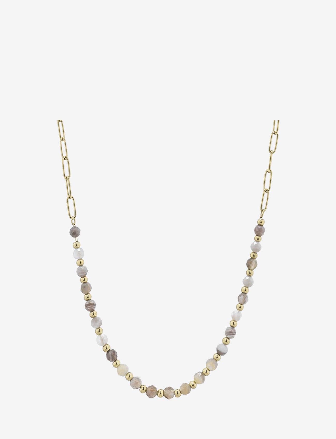 Bud to rose - Spirit Short Necklace Beige/Gold - kettingen met hanger - gold - 0