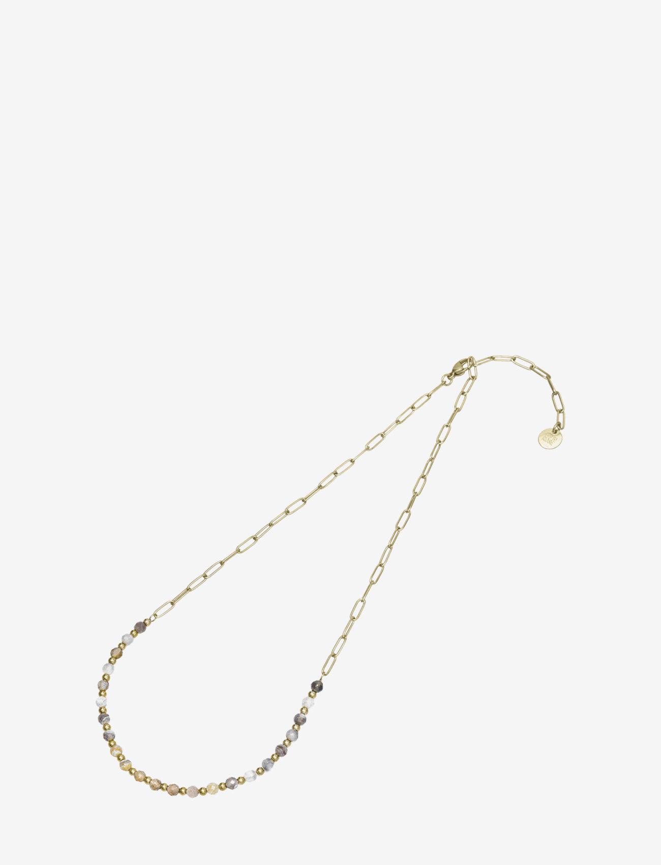 Bud to rose - Spirit Short Necklace Beige/Gold - kettingen met hanger - gold - 1
