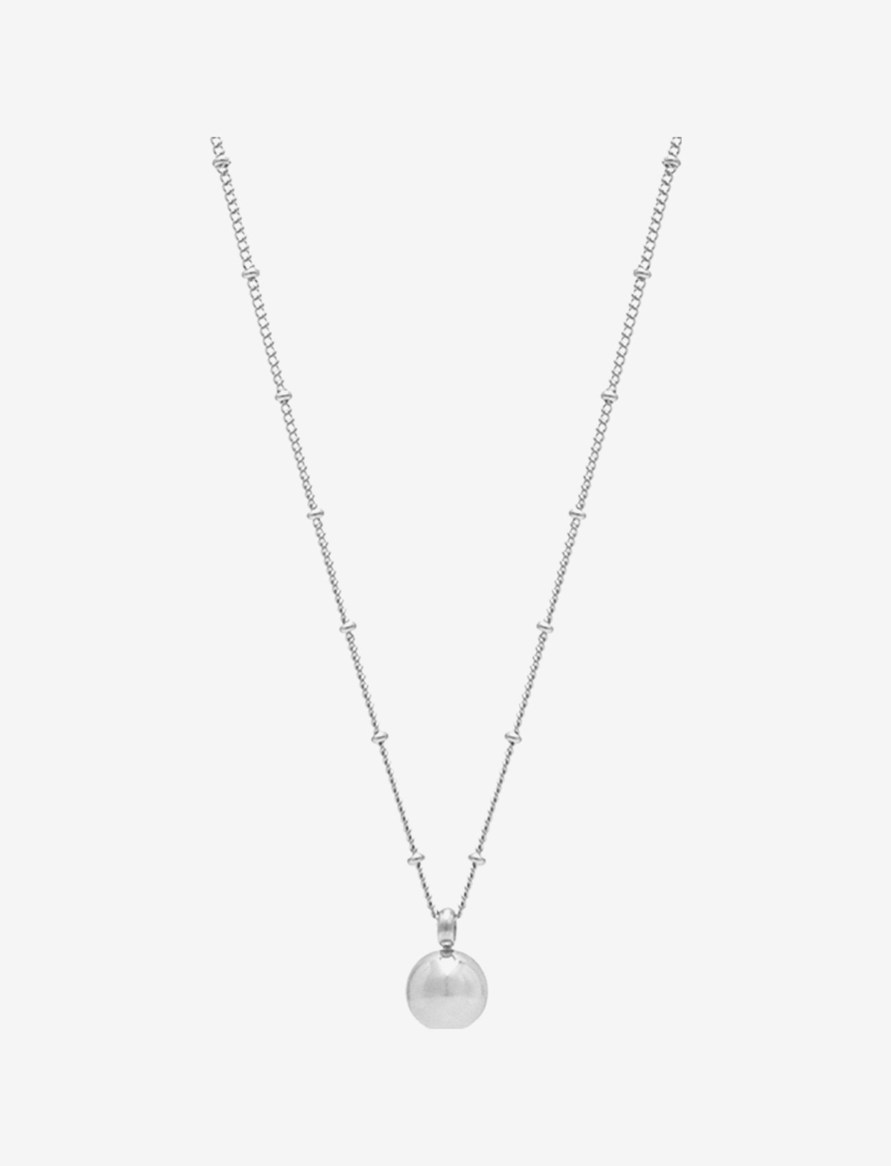 Bud to rose - Globe Short Necklace Steel - kettingen met hanger - silver - 0