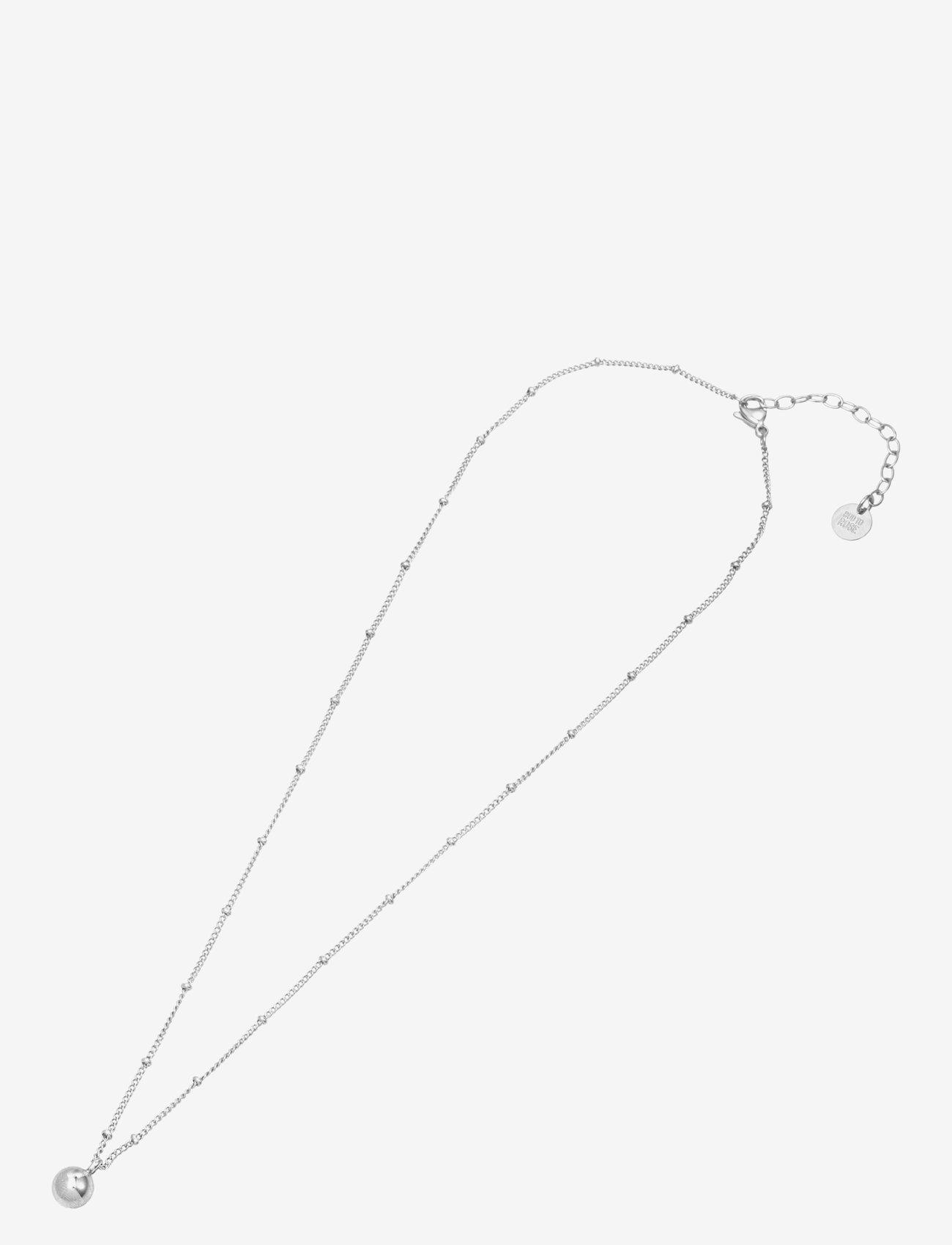 Bud to rose - Globe Short Necklace Steel - kettingen met hanger - silver - 1