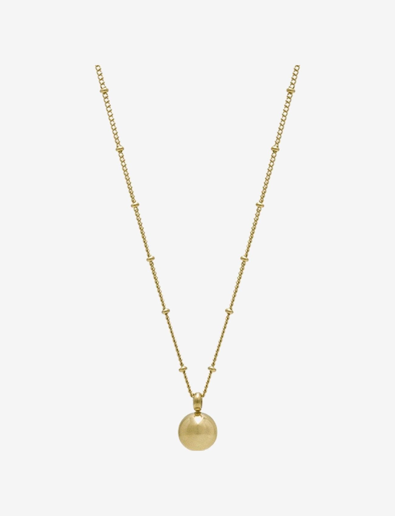 Bud to rose - Globe Long Necklace Steel - kettingen  - gold - 0
