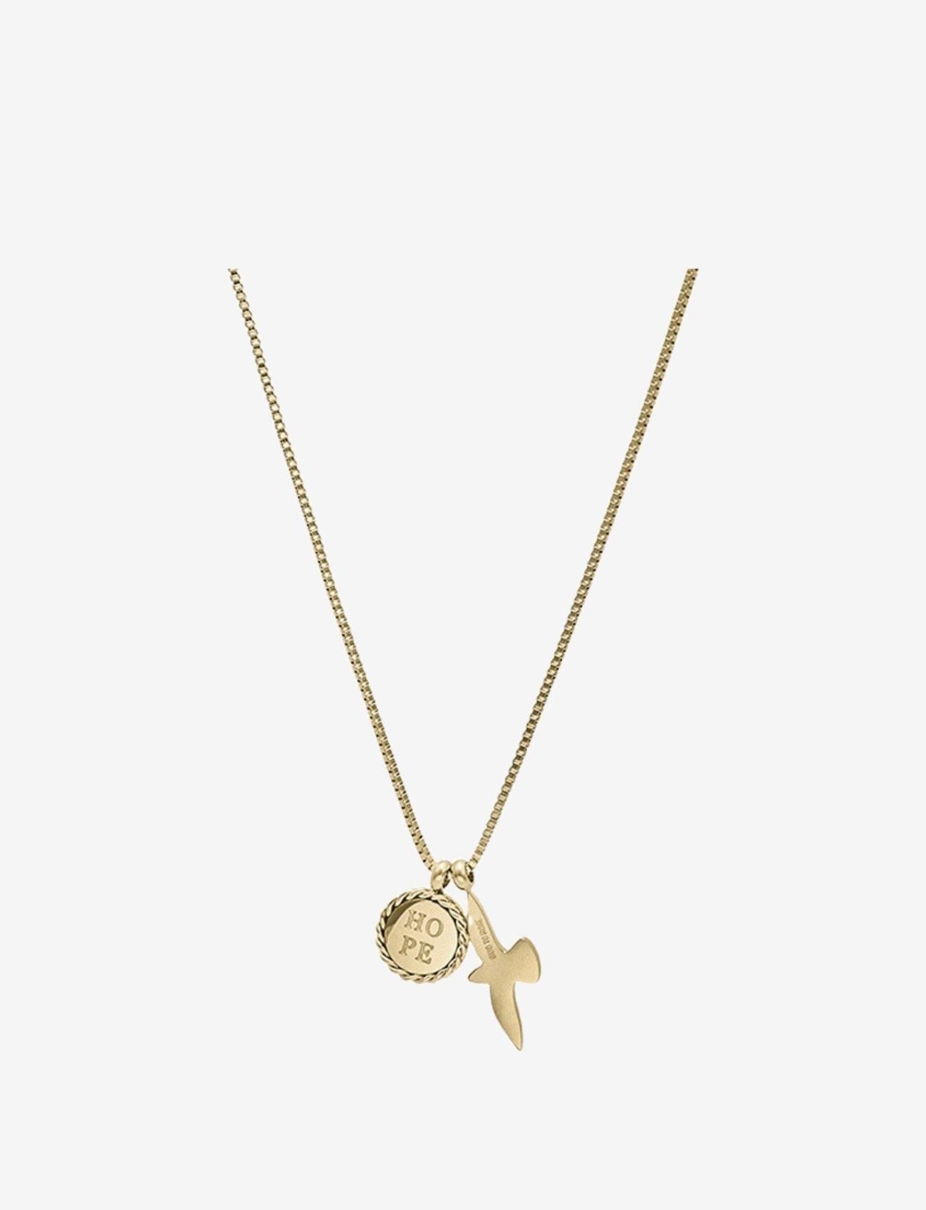 Bud to rose - Hope & Dove Necklace Steel - kettingen met hanger - gold - 0