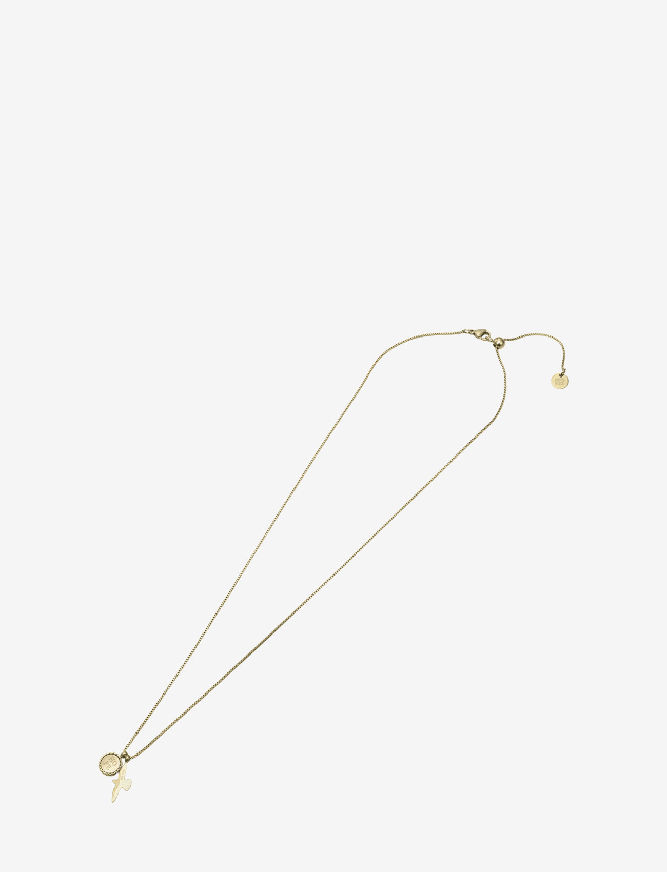 Bud to rose - Hope & Dove Necklace Steel - kettingen met hanger - gold - 1