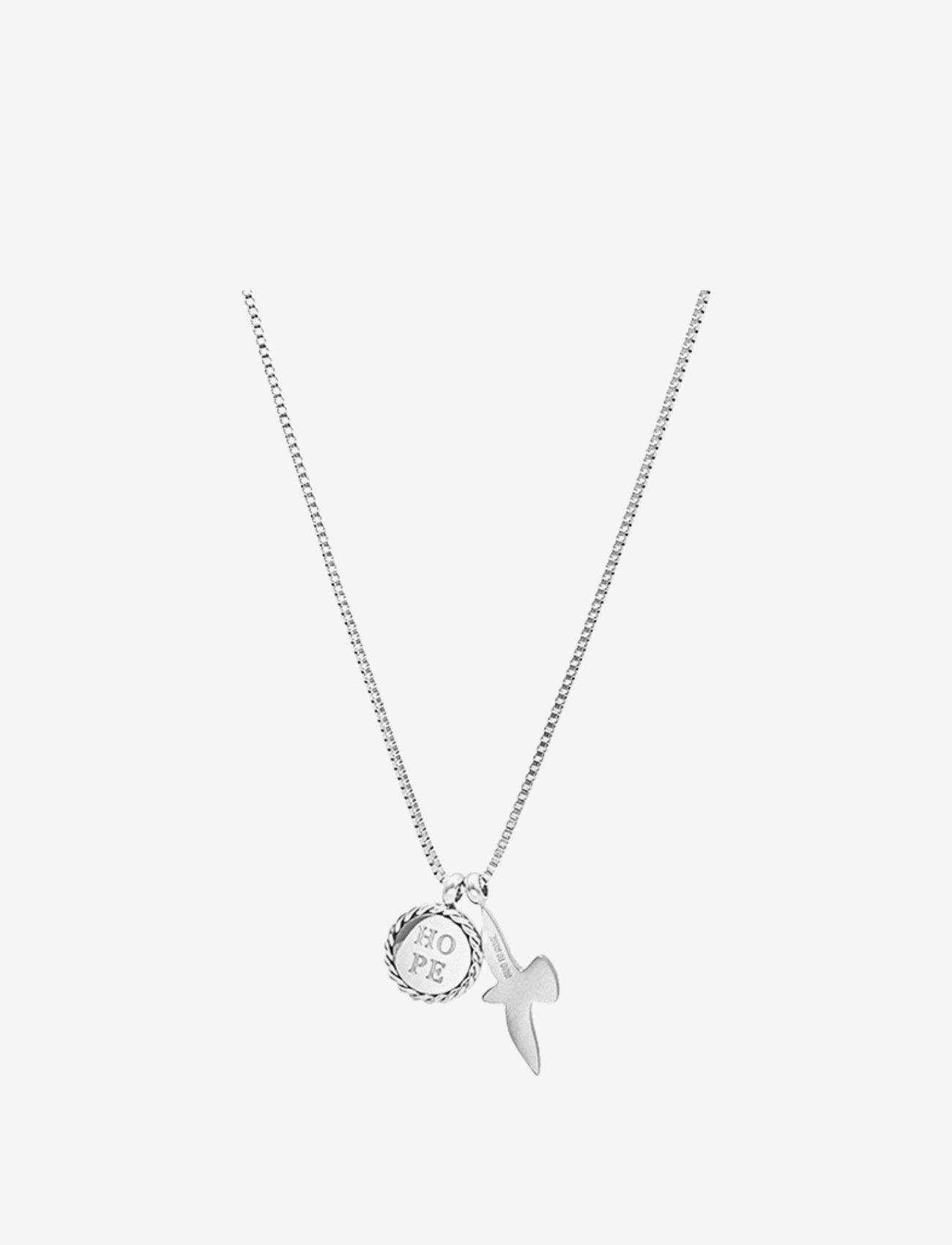 Bud to rose - Hope & Dove Necklace Steel - kettingen met hanger - silver - 0