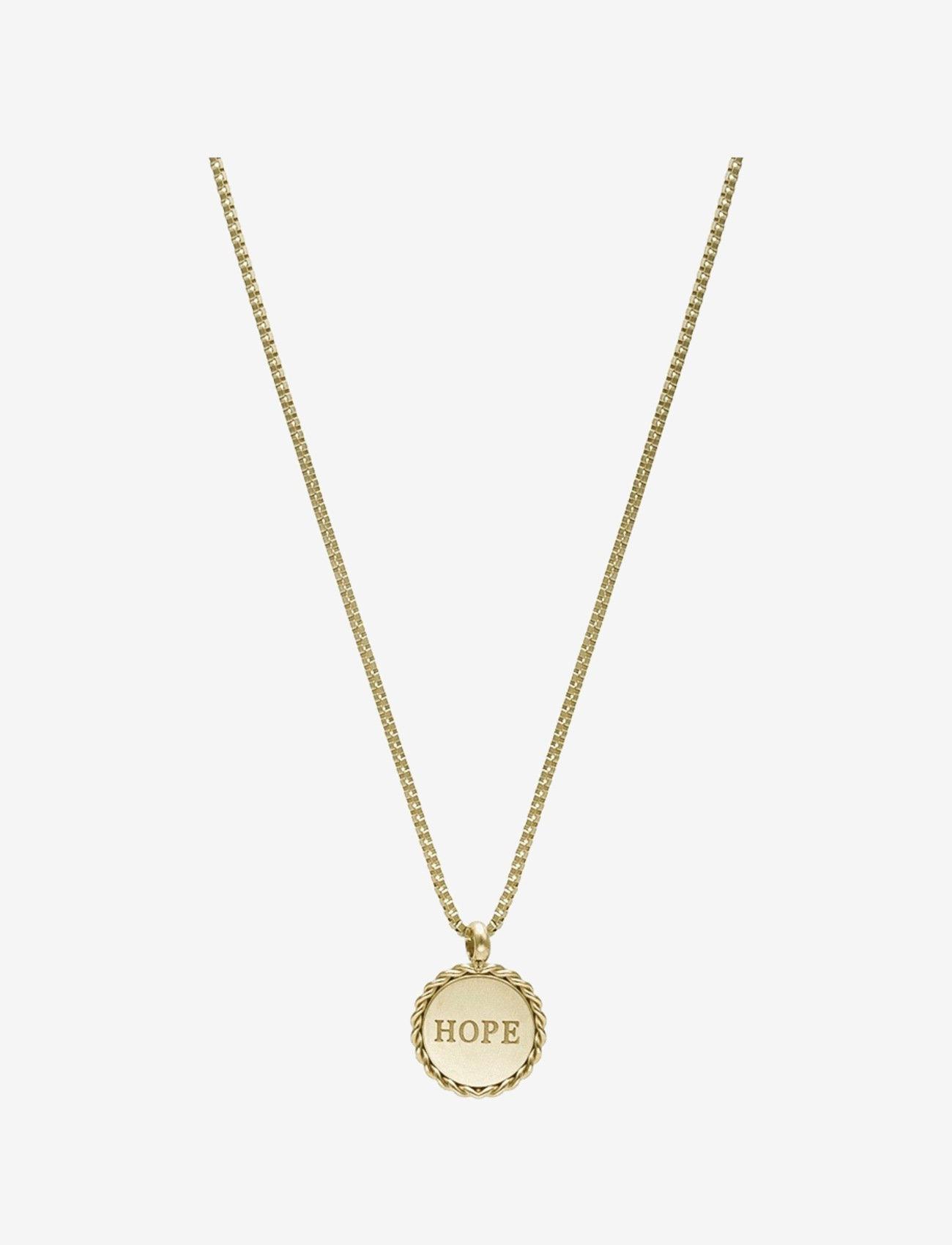 Bud to rose - Hope Short Necklace Steel - kettingen met hanger - gold - 0