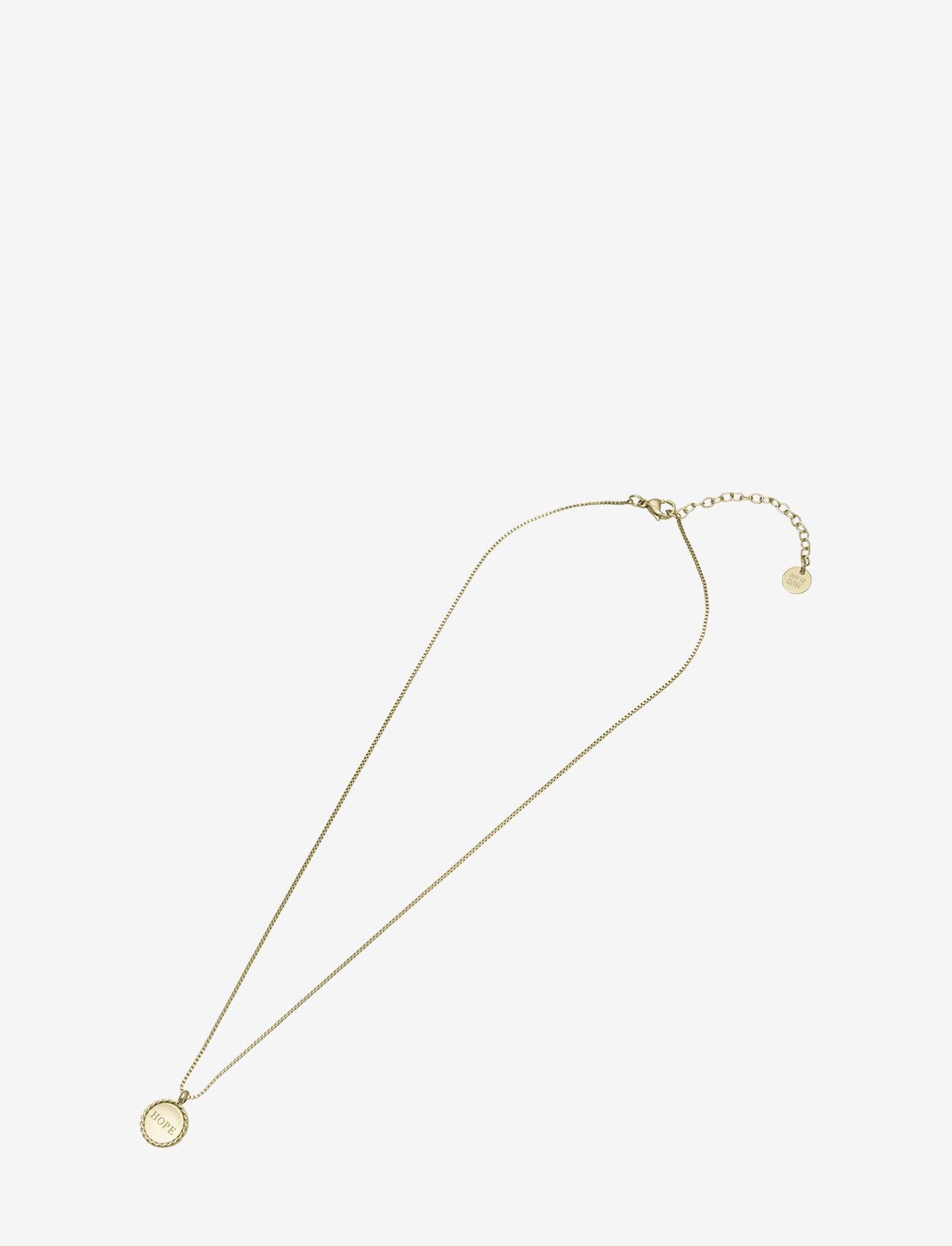 Bud to rose - Hope Short Necklace Steel - kettingen met hanger - gold - 1