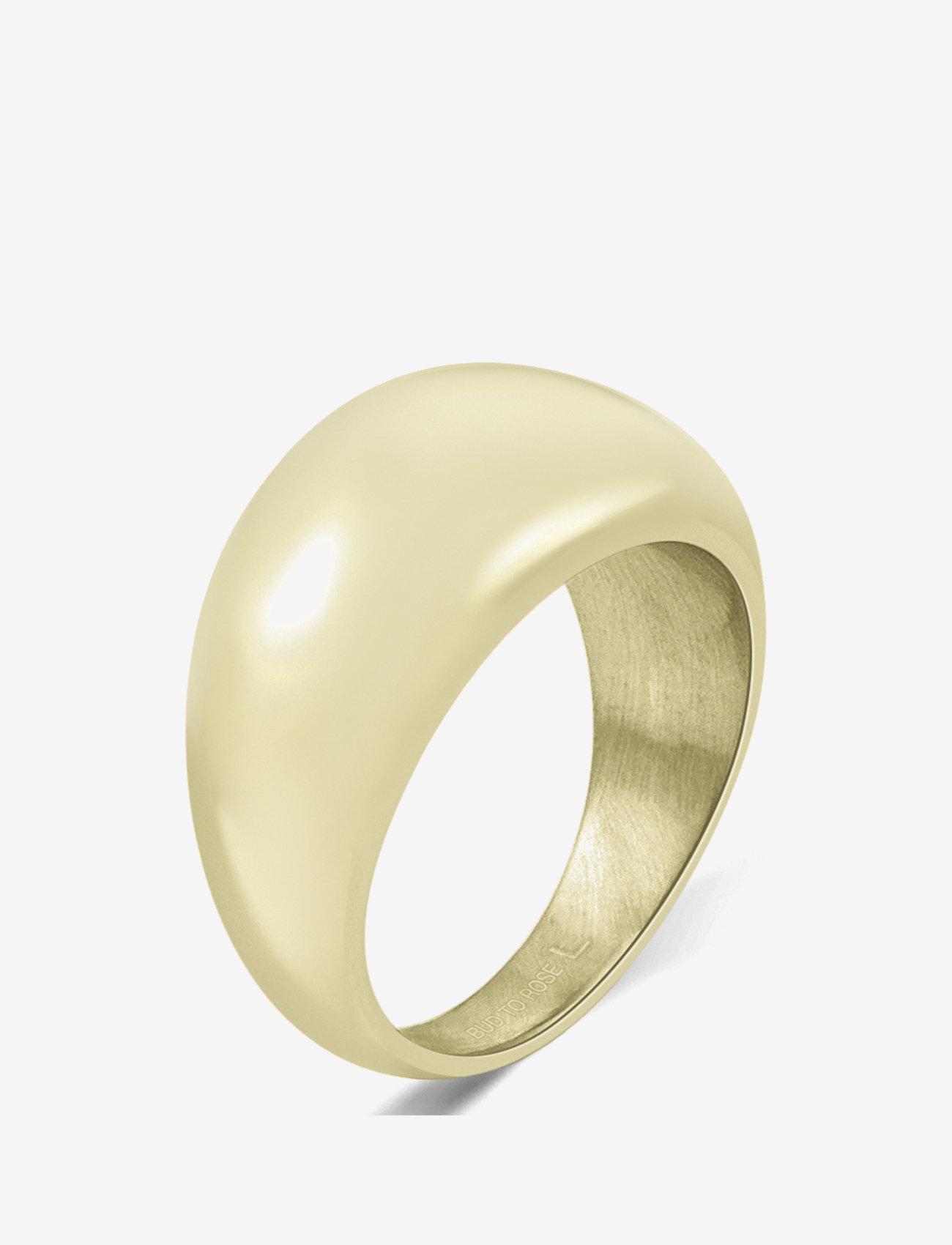 Bud to rose - Arc Bold Ring Steel - ringen - gold - 0