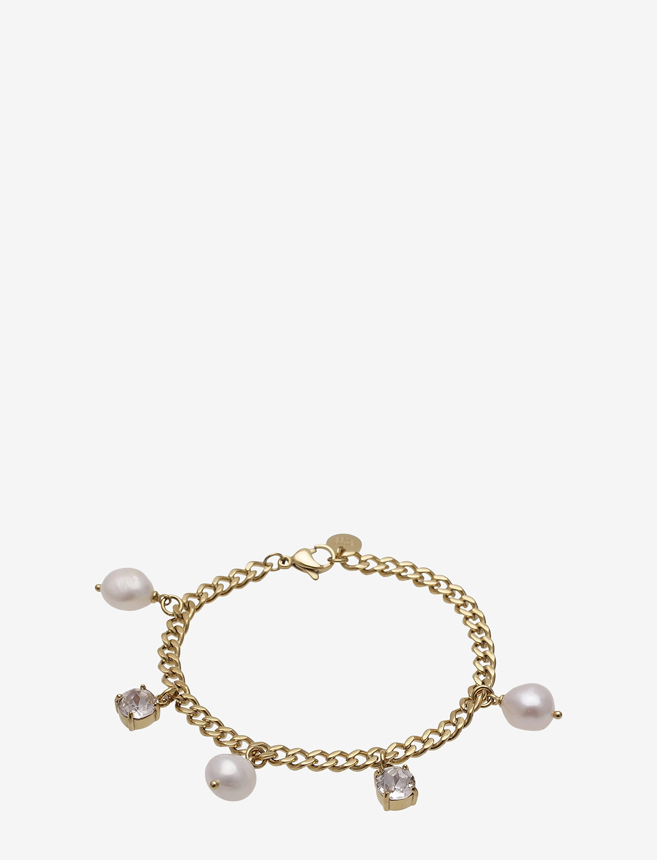 Bud to rose - Pearl Charm Bracelet Steel - dainty - gold - 0