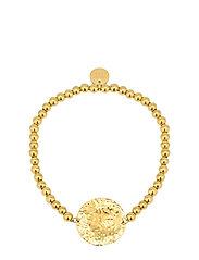 Devious Disc Elastic Bracelet Steel - GOLD