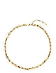 Twine Chunky Short Necklace Gold - SILVER