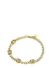 Sence Crystal Bracelet Clear/Steel - GOLD