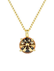Sence Crystal Short Necklace Clear/Steel - GOLD