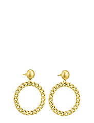 Devious Chain Earring Steel - GOLD