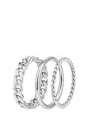 Chain Trio Ring Steel - SILVER