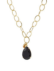 Clarissa Long Necklace - BLACK/GOLD
