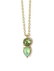 Mini River Short Necklace - GREEN/GOLD