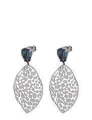 Leaf Crystal Small Earring - BLUE