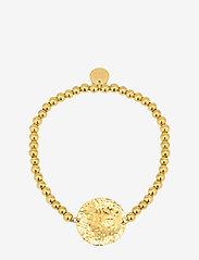 Bud to rose - Devious Disc Elastic Bracelet Steel - dainty - gold - 0