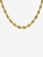 Bud to rose - Twine Chunky Short Necklace Gold - kettingen met hanger - silver - 1