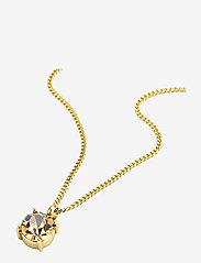 Bud to rose - Sence Crystal Short Necklace Clear/Steel - sirot kaulakorut - gold - 1