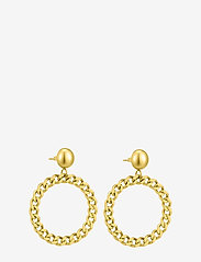 Bud to rose - Devious Chain Earring Steel - pendant - gold - 0