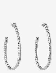 Bud to rose - Kim Earring - hoops - silver - 0