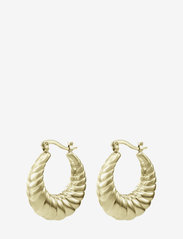 Bud to rose - Sway Large Earring Gold - creoler - gold - 0
