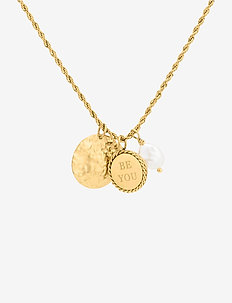 Be You Short Charm Necklace Gold - dainty necklaces - gold