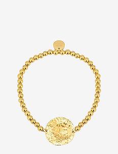 Devious Disc Elastic Bracelet Steel - dainty - gold