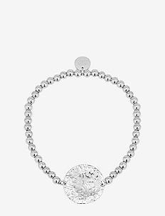 Devious Disc Elastic Bracelet Steel - dainty - silver
